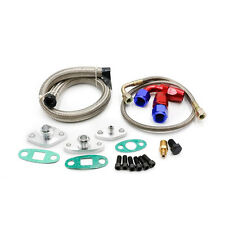 TURBO OIL DRAIN RETURN FEED LINE FITTING KIT FOR Toyota Supra 1JZGTE 2JZGTE 1JZ