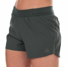 Women's adidas Saturday 4 Inch Slim Fit High Rise Shorts in Green