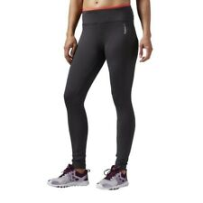 Reebok Womens Workout Ready PP Full Length Running Sports Tight Leggings Bottoms XS