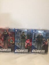 GI JOE CLASSIFIED SERIES LADY JAYE, FLINT & COBRA COMMANDER LOT IN HAND