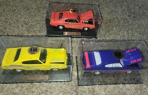 (3) Car Lot Hard Body Muscle Cars 1969 Pontiac GTO Judge Series Tootsietoy 1:32