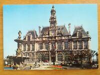 CPA AUTOMOBILES ANNEES 60 LIMOGES hôtel de ville Peugeot 204 404 Fiat 600 R4