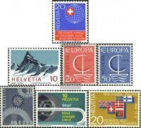 Schweiz 841, 842, 843-844, 850, 851-852 (kompl.Ausg.) gestempelt 1966 Sondermark