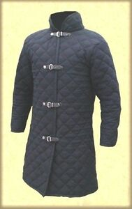 Medieval Gambeson 100 % Padded cotton full sleeves Armor wear under chainmail