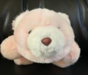 """Gund Snuffles SNUFF Plush Teddy Bear VINTAGE Pink 1980s 7"""""""