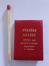 """Mini livre série MINUSCULE, """"Pensees Arabes"""", 1957"""