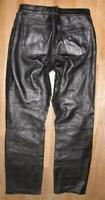 >>> Damen- LEDERJEANS / Lederhose in schwarz aus weichem Nappaleder Gr. 42