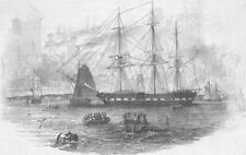 SHIPS. Boarding. Air-of Noble Race-Welsh, antique print, 1846