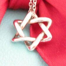 Tiffany & Co Silver 925 Peretti Star Of David Pendant Necklace