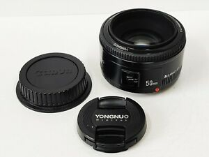 Genuine Yongnuo YN 50mm f/1.8 II AF MF Prime Fixed Lens for Canon - UK Stock