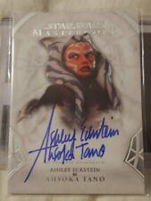 2018 Star Wars Masterworks Ashley Eckstein Autograph Card Ahsoka Tano SWEET HTF