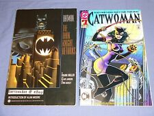 Batman The Dark Knight Returns 1986 TPB+Catwoman #1 1993 Frank Miller Alan Moore