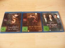 3 Blu Ray Set Die Twilight Saga: Twilight + New Moon + Eclipse