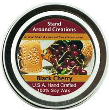 Premium 100% All Natural Soy Wax Candle - 2 oz Tin - Black Cherry