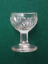 Rare Clear Glass Gadrooned Spiral French Eye Bath  PERFECT SD Mark to Base  3.