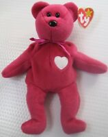 Collectible 1998 Rare TY Original Beanie Baby Valentina Bear 3 Errors Retired