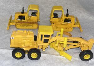 Ertl Caterpillar 1/50 Cat Bulldozer & Road Grader 3 Pc Lot!
