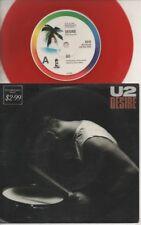 "U2   Rare 1988 Aust Only 7"" OOP L/Edit Red Coloured Wax Rock P/C Single ""Desire"""