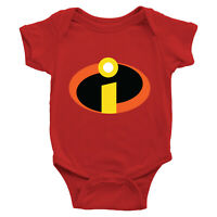 Infant Baby Boy Girl Bodysuit Romper Jumpsuit Newborn The Incredibles 2 Symbol