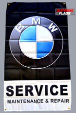 BMW Service Flag Banner 3x5 ft Maitenance & Repair Car Garage Black