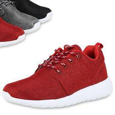 Damen Runners Glitzer Sportschuhe Sneakers Laufschuhe 816782 Top