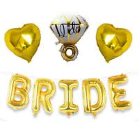 Bride Foil Balloons Big Ring Balloon Gold Bridal Shower Decorations Wedding Hens