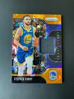 Stephen Curry 2019-20 Panini Prizm Cracked Orange Ice Jersey Sensational SS-SCU