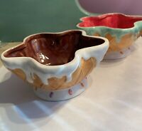 Ice Cream Cone Ice Cream Bowls Ceramic Cute! Unbranded - Set Of 2