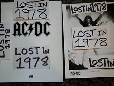 AC/DC Press Kit Bio Photo Angus Malcolm Young Record Vinyl CD Tape Vintage OOP