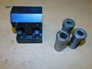 "Global CNC 1 1/4"" Boring Turret Lathe Tool Holder Block 3/4 5/8 1/2 TW10-8432"