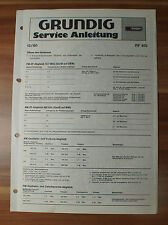 Chassis RF810 Grundig Service Manual Serviceanleitung