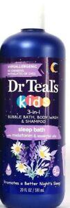 1 Bottles Dr Teal's 20 Oz Kids 3 In 1 Sleep Bubble Bath Body Wash & Shampoo