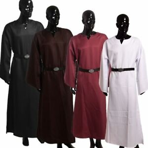 Medieval Renaissance Larp Cope Wicca Pagan Ritual Robe Gown With Belt Cosplay