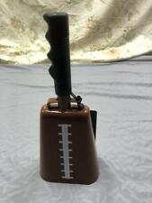 Cowbell Football Tailgate Game Time Brown , Noise Maker - New With Tags
