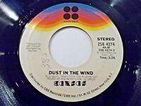 Kansas Dust In The Wind / Paradox 45 1977 Kirshner Vinyl Record