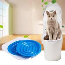 Cat Toilet Training Kit Litter Tray Box Trainer Pet Kitten Cleaning Potty Us