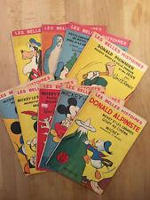 Les Belles Histoires de Walt Disney - Lot de 9 numéros en TBE - Hachette 1954/59