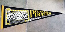 PITTSBURGH PIRATES PENNANT - WORLD SERIES - 1960 TEAM PICTURE - MAZ HR  ORIGINAL