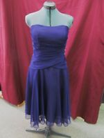 Mori Lee Size 11/12 Purple Short Formal Evening Prom Bridesmaid Dress H-1-3