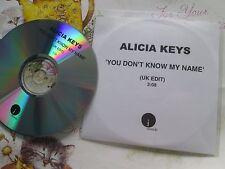 Alicia Keys You Don't Know My Name J Records UK Promo CD Single