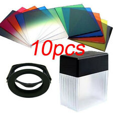67mm ring Adapter + 10pcs square color filter +Filter box Kit for Cokin P series