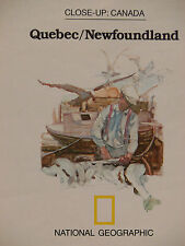 Vintage 1980 National Geographic Map Quebec & Newfoundland w/Historical Notes(a)