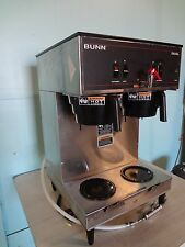"HEAVY DUTY COMMERCIAL ""BUNN"" DUAL COFFEE BREWER FOR USE WITH SATELLITE DISPENSER"
