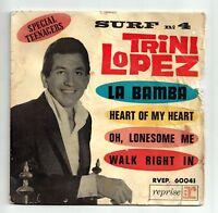 """LOPEZ Trini Disque Vinyle 45 tours 7"""" EP LA BAMBA - VOGUE 60 041 Frais Reduit"""