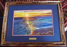 Brenda Roberton original pastel titled 'Sunrise Glory'. Australian Seascape