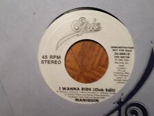 """PROMO 7"""" EPIC 45 RECORD/MANIQUIN/i wanna ride/ 1989 NEAR MINT SOUL"""