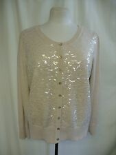 Ladies Cardigan Monsoon nude size L, plastic sequins, bobbling, not perfect 1194