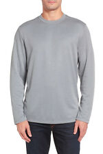 TOMMY BAHAMA Double Diamond L/S Crewneck T-Shirt in Filter Grey Sz.Large NWT $88
