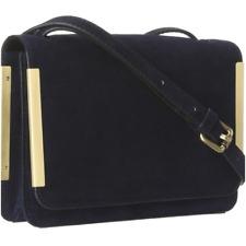 New Stuart Weitzman Cantera Navy Blue Suede Crossbody Bag Handbag Purse $ 580