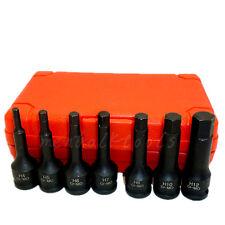"3/8"" Square Drive CR-MO Impact Spline Socket Bit Adapter H4 H5 H6 H7 H8 H10 H12"